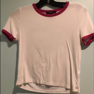 Forever 21 white and pink t-shirt